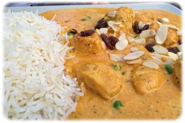 Das Curry-Huhn. Foto: Heiko Weckbrodt