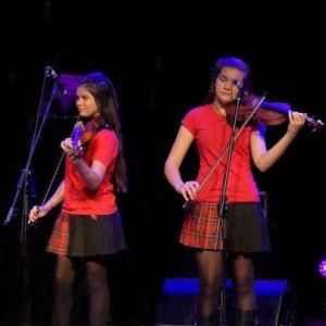 String Loaded Girls performing at the Golden Fiddle Show 2016