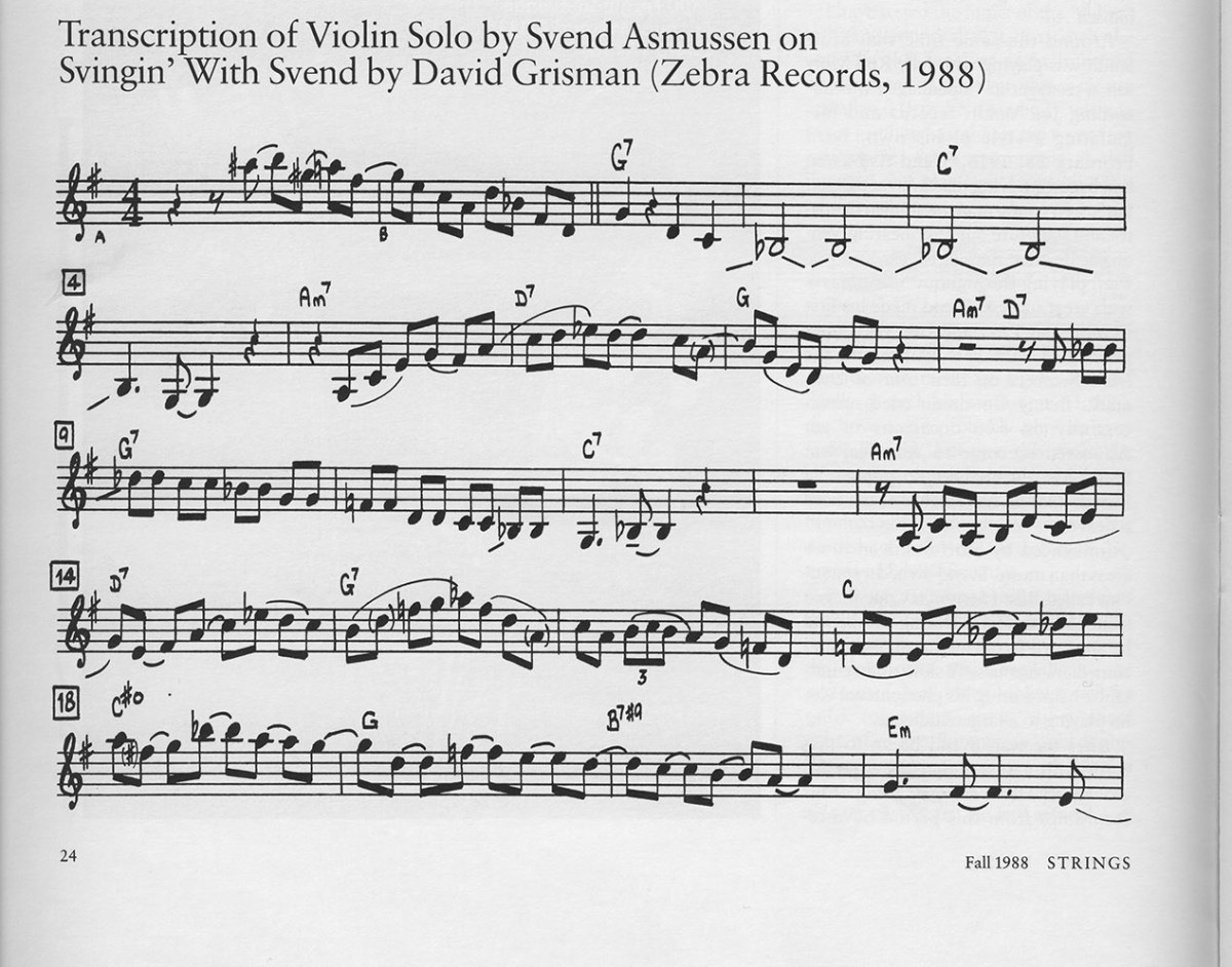 Svend Asmussen transcription