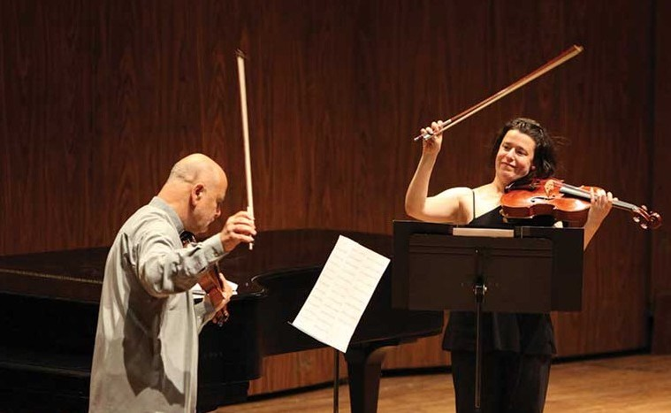 Melia Watras and her mentor Atar Arad