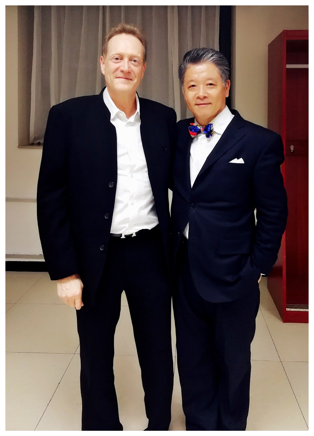violinist Yi-Wen with Steven Smith, director of J & A Beare
