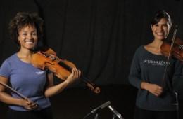 Violinists Melissa White and Elena Urioste