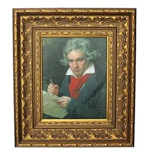 Wayfair's gold-framed oil painting print of Ludwig van Beethoven