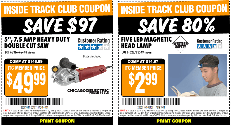 Harbor Freight Tools Inside Track