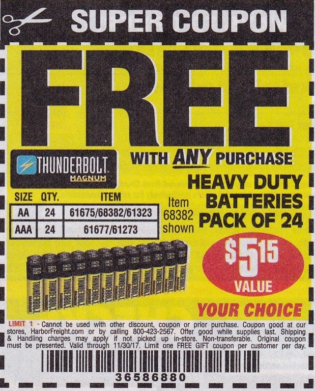 Harbor Freight Free Item Coupons! - Struggleville