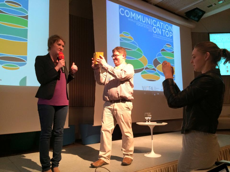 Stuart Bruce shooting live #WCFDavos Instagram videos