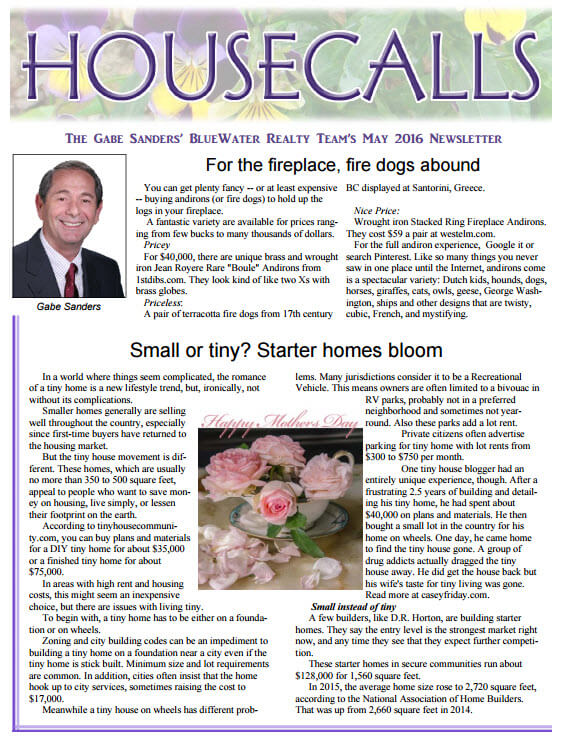 Gabe's May 2016 HouseCalls Newsletter