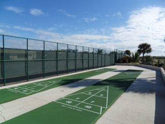 Shufleboard Courts in Suntide Condo on Hutchinson Island