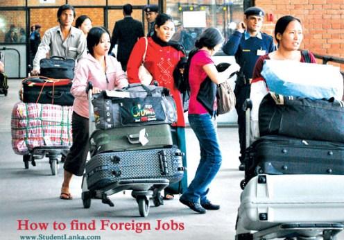 Foreign Jobs for Sri Lankans
