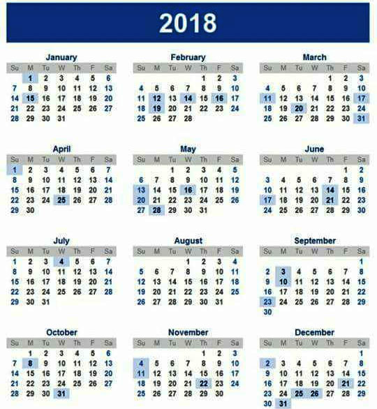 Download 2018 Calendar & Public Holidays in Sri Lanka