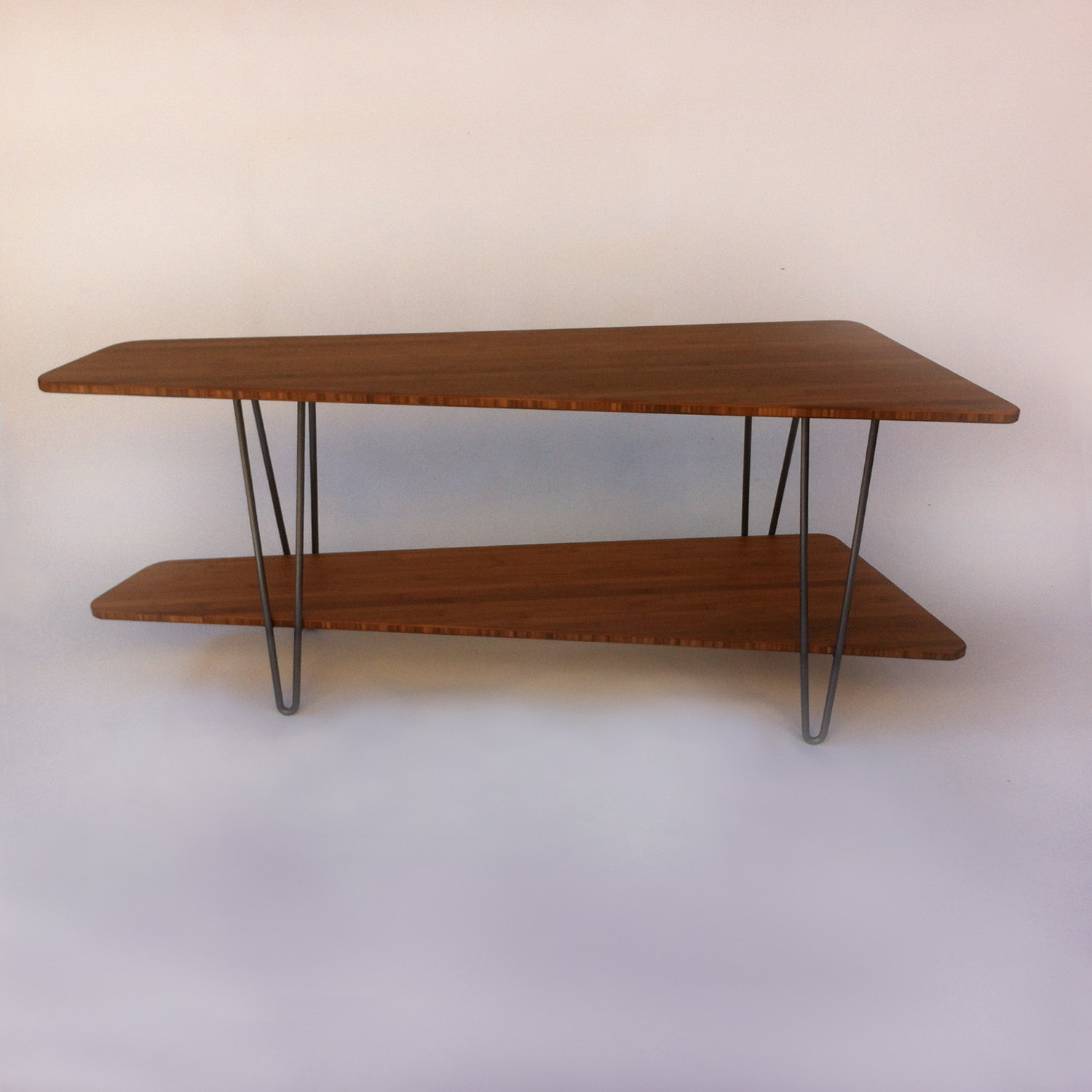 Mid Century Modern TV Stand Media Console With Shelf