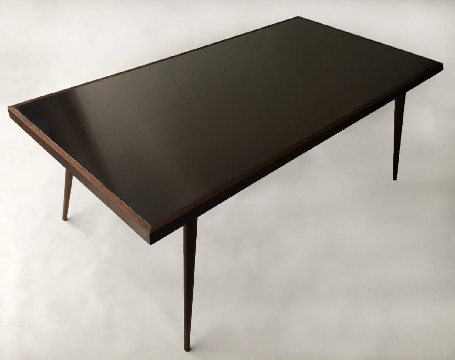 red entry table. Contemporary Stainless Steel + Walnut Table Red Entry