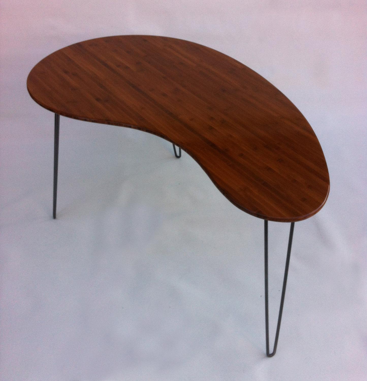 Mid Century Modern Coffee Table Kidney Bean Shaped Atomic: Mid Century Modern Desk