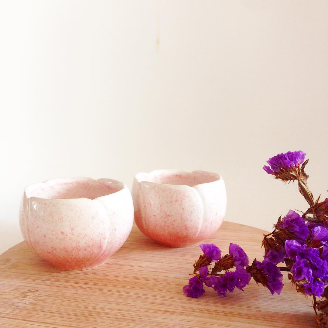 • DROPLETS OF SPRING Blooming on a tree Water for the heart that thirsts  Till I drink from you • Handcrafting these blossoming Sakura sake cups for @fatcowsg, to usher in the spring season, a time of hope and new beginnings! May we always find time to share a sip with the people we love. • 恭祝大家新年安康,出入平安! • #handmade #pottery #ceramics #madeinsg #designedinsg #haiku #sakura #sakecups #fatcow #singapore #studioasobi #cny