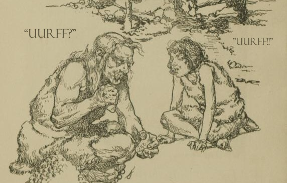 Cave dwellers sharing earth