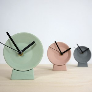 C09-1 Off center clock - studio lorier colors small clock ceramic clock hands