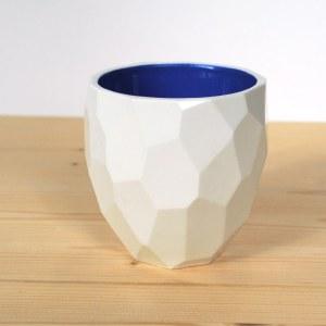cobalt blue Poligon themo cup Studio lorier