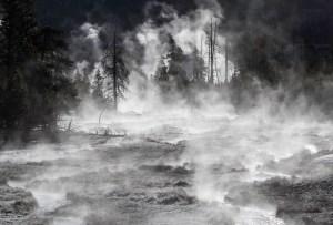 Frost & steam, Midway Geyser Basin by Neal Herbert