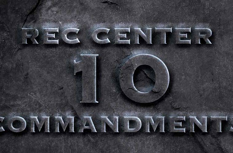 Notorious B.I.G.'s Rec Center 10 Commandments