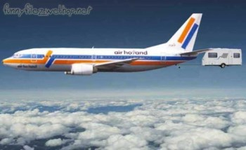 Air Holland pulling camper