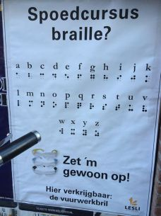 "Gotta love the Dutch humor in this one! ""Anyone for a crash-course in braille??"""