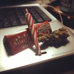 candy cane flavored juicy jay rolling papers are perfect for Christmas