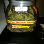 stash jar full of medical marijuana