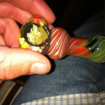headies and hash in a pipe