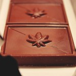 marijuana chocolate bar pot leaf