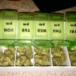 marijuana in weekly pill boxes