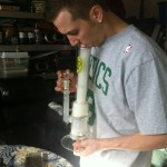 smoking a dab