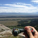 Smoking grand bowl at the grand tetons