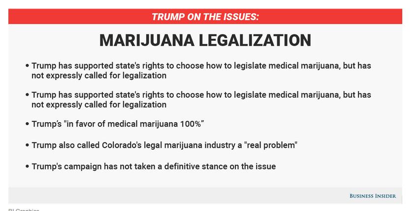 Donald Trump Marijuana Stance