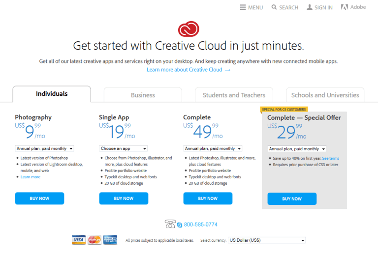creative-cloud-landing-page