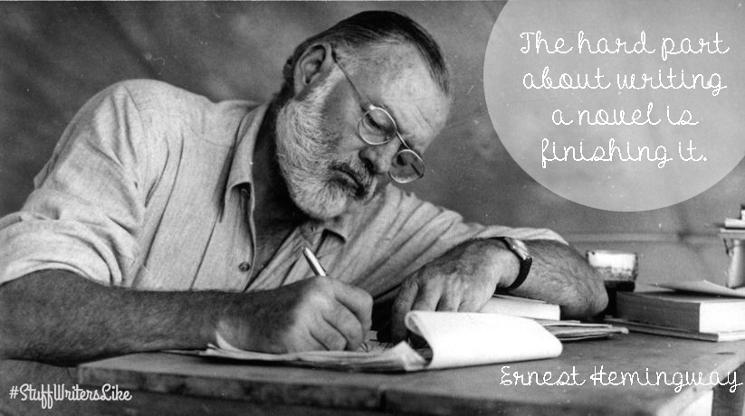 hemingway hard part writing novel finishing