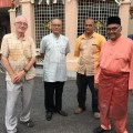 From right to left the OBJ, Amril, Lubis and me