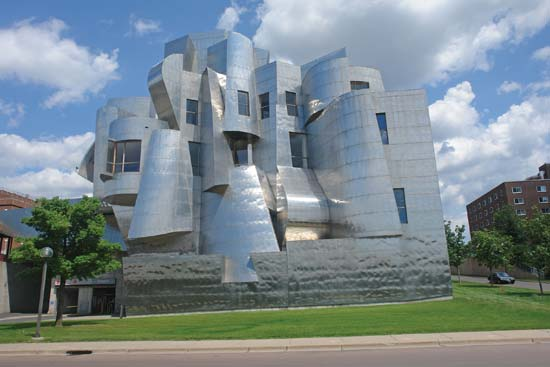 Frank Gehry designed Weisman Art Museum in Minneapolis MN. Saved from britannica.com