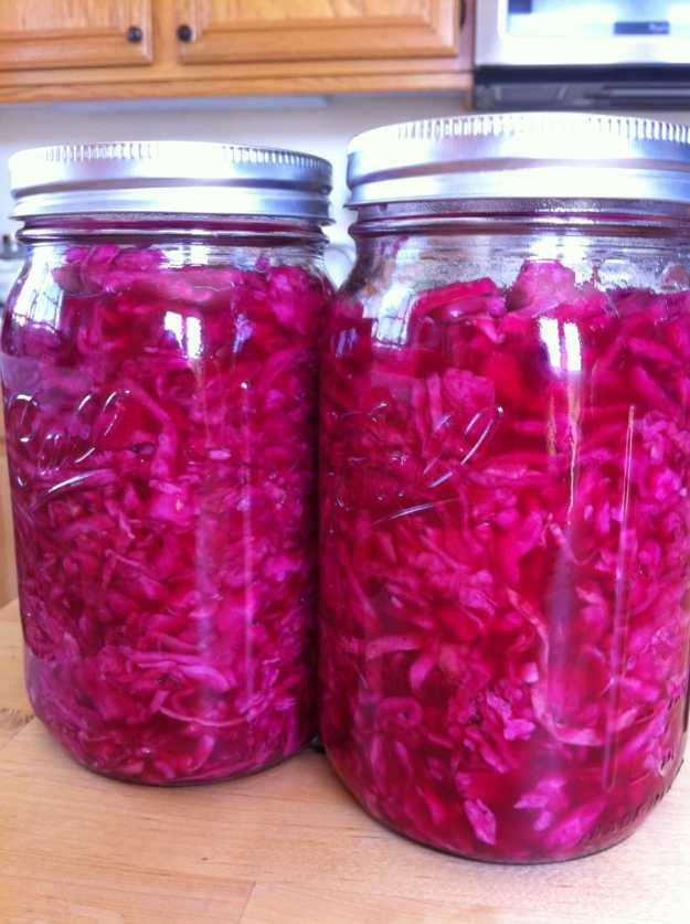 Homemade Red Cabbage Sauerkraut | stupideasypaleo.com