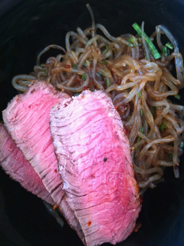 Grass-Fed Sirloin with Kelp Noodle Stir-Fry | stupideasypaleo.com