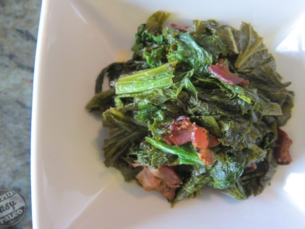 Braised Mustard Greens with Bacon | stupideasypaleo.com