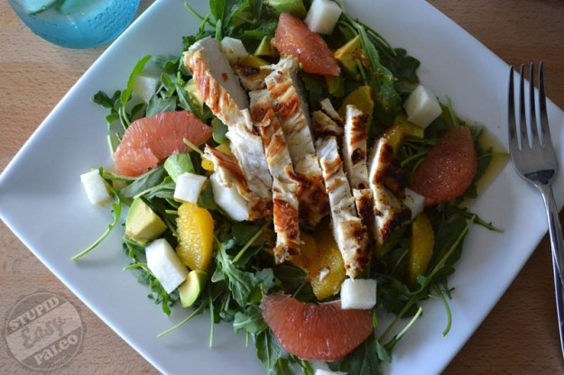 Citrus Avocado Salad with Chicken | stupideasypaleo.com