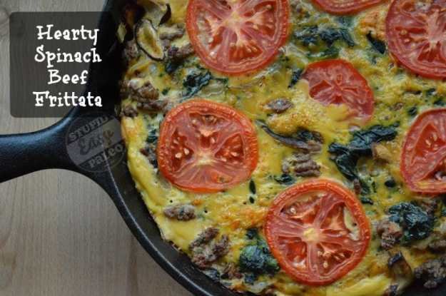 Hearty Spinach Beef Frittata | stupideasypaleo.com