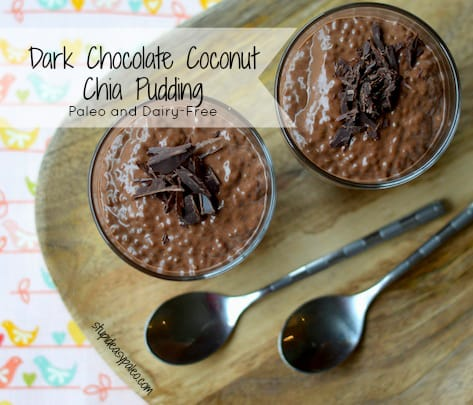 Dark Chocolate Coconut Chia Pudding | StupidEasyPaleo.com
