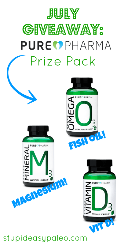 July Giveaway: PurePharma Prize Pack | stupideasypaleo.com