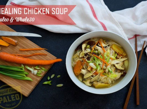 Healing Chicken Soup—Paleo & Whole30 |stupideasypaleo.com