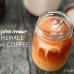 Paleo Vanilla Hazelnut Creamer with Homemade Cold-Brew Coffee | stupideasypaleo.com