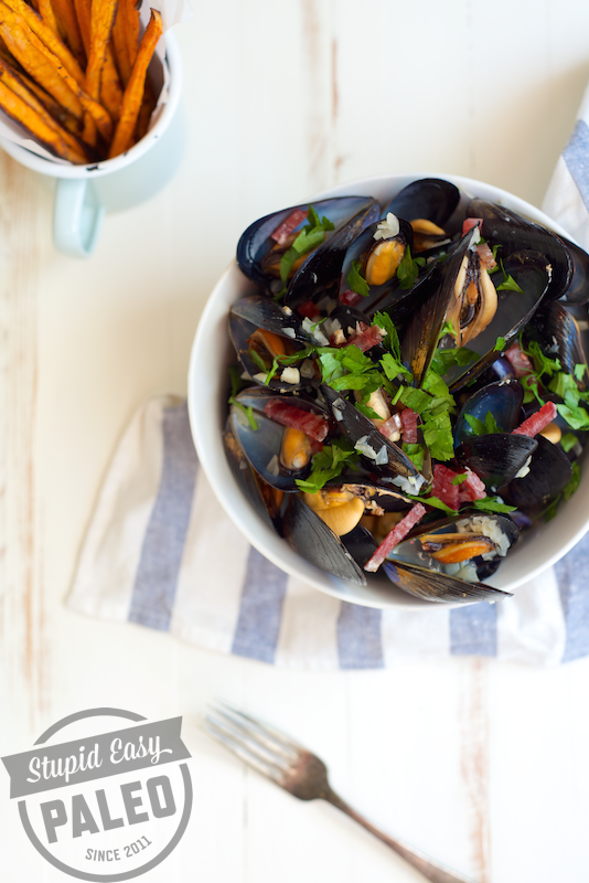 Moules et Frites—Mussels & Fries | stupideasypaleo.com