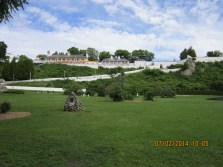 Fort Mackinac site of many historical reenactments.