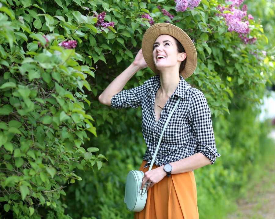Gingham + Hat 2a