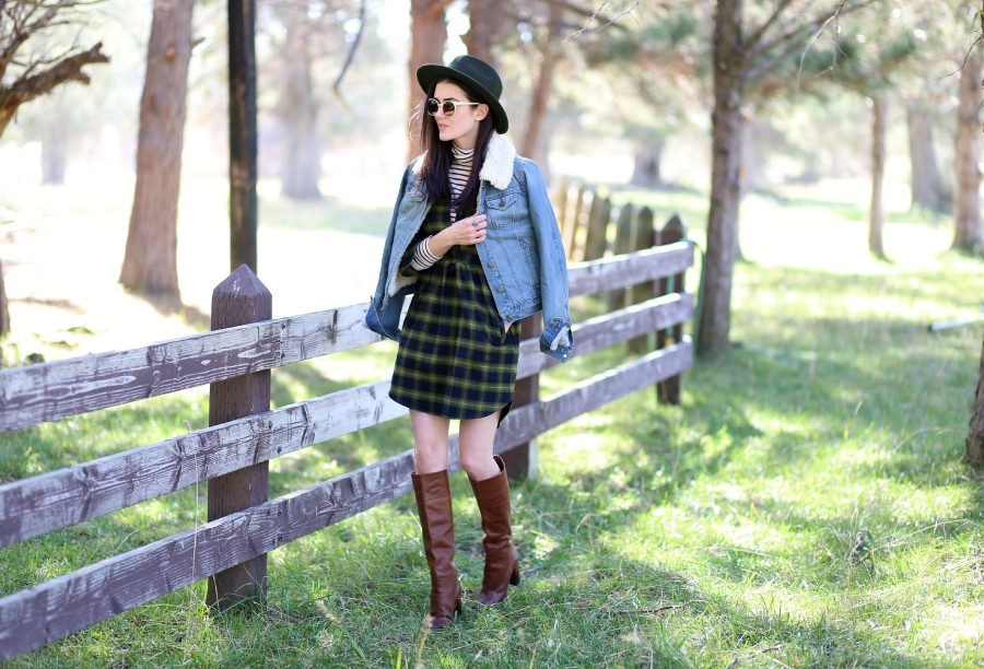 Plaid Flannel Dress 2a